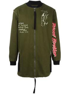 куртка-бомбер со стилизованным комбинированным принтом  Blood Brother