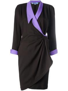 gathered wrap dress Thierry Mugler Vintage