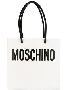 сумка-тоут  с принтом логотипа Moschino