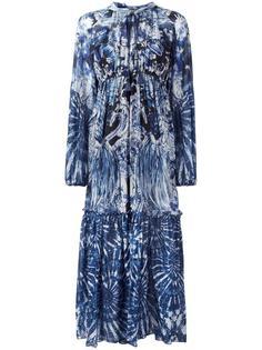 длинное платье с абстрактным принтом Roberto Cavalli
