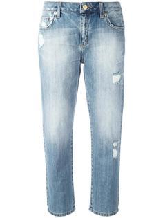 укороченные джинсы с потертой отделкой Michael Michael Kors
