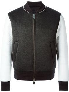 куртка-бомбер с контрастными рукавами Neil Barrett