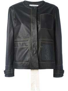 байкерская куртка с тисненым логотипом Loewe