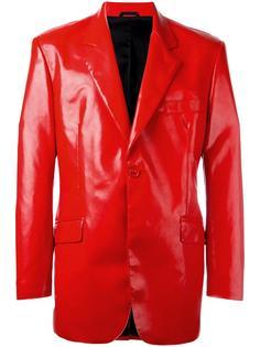 faux leather blazer Moschino Vintage