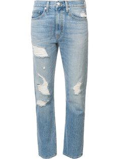 рваные джинсы прямого кроя Brock Collection