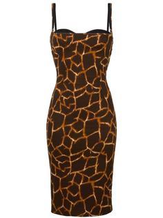 leopard print balconette dress Dolce & Gabbana Vintage
