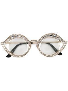"""солнцезащитные очки в оправе """"кошачий глаз"""" Gucci"""