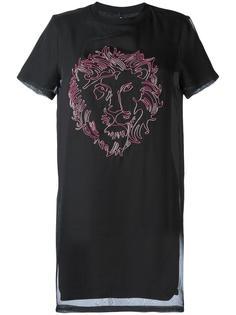 платье-футболка с принтом логотипа Versus