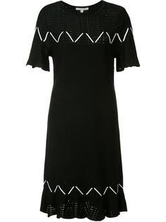 трикотажное платье с перфорацией Jonathan Simkhai