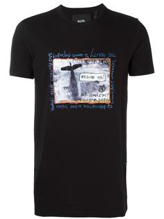 футболка с принтом самолета  Blood Brother