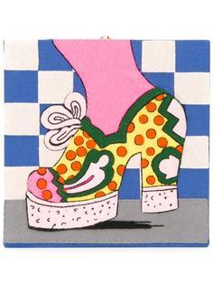 клатч с принтом туфли на платформе Olympia Le-Tan