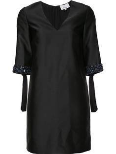 атласное платье с декорированными манжетами 3.1 Phillip Lim