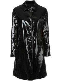 блестящее пальто на пуговицах Love Moschino