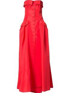 длинное платье 'Faille Bustier'  Carolina Herrera
