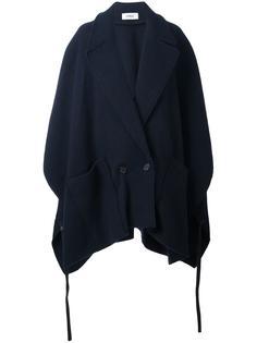 двубортное пальто-пончо Chalayan