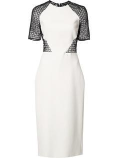 платье-футляр с прозрачной спиной David Koma