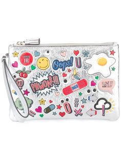 stickers zipped clutch Anya Hindmarch