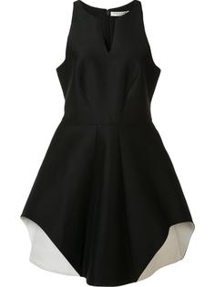 round slit neck dress Halston Heritage