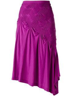 asymmetric ruched skirt Issey Miyake Vintage