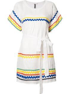 платье шифт с зигзагообразным узором Lisa Marie Fernandez
