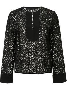 front placket lace blouse Jenni Kayne