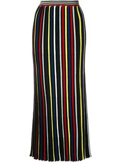 pleated striped skirt Rosetta Getty