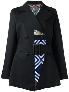 geometric pattern coat Issey Miyake