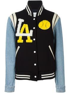 куртка бомбер с джинсовыми рукавами Forte Couture
