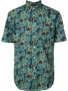 рубашка с пальмовым принтом Gitman Vintage