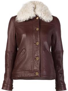 куртка с воротником из овчины Derek Lam 10 Crosby