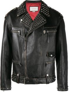 байкерская куртка 'King Charles Spaniel' Gucci