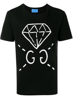 футболка с принтом бриллианта  Gucci