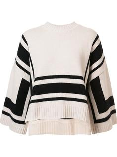 трикотажная блузка с геометрическим узором Derek Lam 10 Crosby