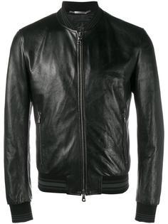 кожаная куртка-бомбер  Dolce & Gabbana