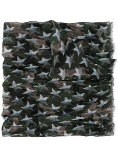 камуфляжный платок Valentino Garavani со звездами Valentino