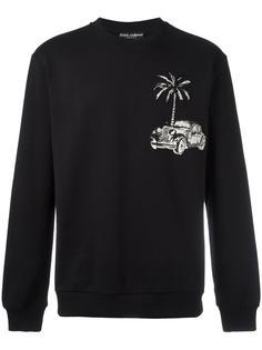 car & palm patch sweatshirt Dolce & Gabbana