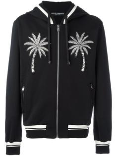 palm tree patch zip hoodie Dolce & Gabbana