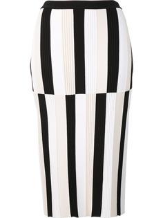 юбка-карандаш в полоску Derek Lam