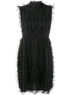 кружевное платье с рюшами Givenchy