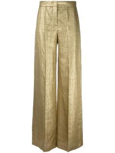 широкие брюки с эффектом металлик Etro