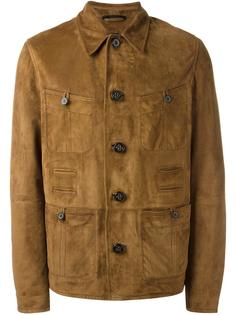 фактурная кожаная куртка Lanvin