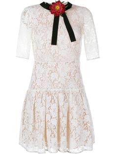 кружевное платье мини Gucci