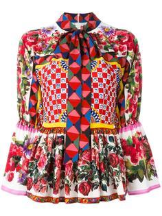 блузка с баской Dolce & Gabbana