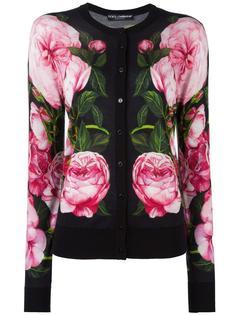 rose print cardigan Dolce & Gabbana