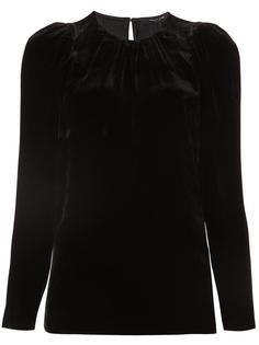 блузка со сборками у шеи Derek Lam
