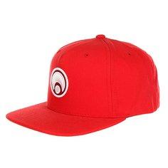 Бейсболка с прямым козырьком Osiris Snap Back Hat Standard Red/White