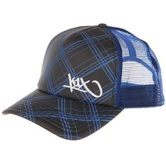 Бейсболка с сеткой K1X Check It Out Trucker Cap Stealth Grey/Cyan