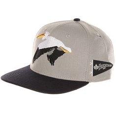 Бейсболка с прямым козырьком K1X Pelican Strapback Cap Light Grey/Blue