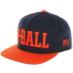 Бейсболка с прямым козырьком K1X B Ball Snapback Cap Navy/Flame