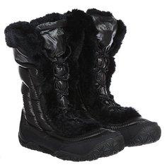 Сапоги зимние женские The North Face Nuptse Faux Fur Iv Shiny Black
